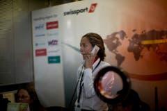 Hektische Betriebsamkeit bei Swissport in Barcelona, derjenigen Gesellschaft, die Germanwings-Flüge abwickelt. (Bild: Keystone)