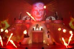 Auch Feuerzauber gibt es an Bobo-Konzerten zu bewundern. (Bild: Keystone)