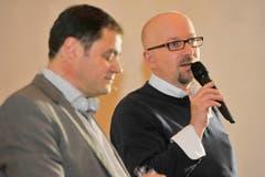 Redaktionsleiter David Angst und Blattmacher Peter Exinger. (Bild: Donato Caspari)