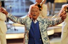 """Der deutsche Bandleader James Last 2009 in der Fernsehshow """"Willkommen bei Carmen Nebel"""". (Bild: Keystone)"""