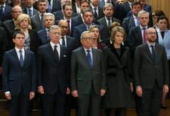 Brussels terror attacks aftermath minutes silence (Bild: Keystone)