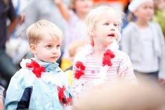 Das Publikum der Band für Kinder Schtärnäföifi. (Bild: Benjamin Manser)