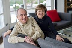 Besuch bei Kurt und Paola Felix aus Anlass seines 70. Geburtstags im Frühling 2011. (Bild: Coralie Wenger)