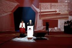 Bundesratspräsident Johann Schneider-Ammann hat am Mittwoch den Gotthardtunnel offiziell eröffnet. (Bild: Keystone)