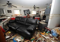 Eine verwüstete Wohnung. (Bild: Keystone)