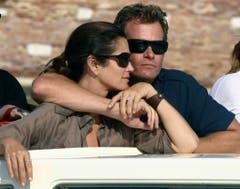 Mit Ehemann Rande Gerber anlässlich des Filmfestivals von Venedig im August 2011. (Bild: Keystone)