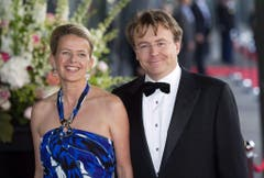 Prinz Johan Friso mit seiner Ehefrau Mabel am 27. Mai 2011 iim Konzertsaal in Amsterdam. (Bild: Keystone)