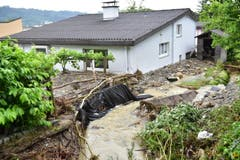 Im Thurgau hat das Unwetter die grössten Schäden in und um die Gemeinde Kradolf-Schönenberg angerichtet. (Bild: Mario Testa)