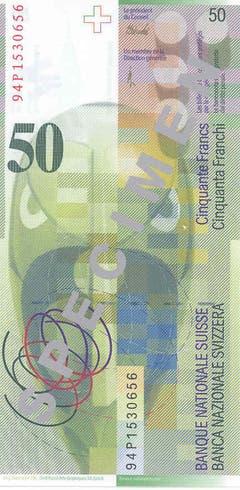 """Die Noten sind noch immer im Umlauf und werden in den kommenden Jahren laufend ersetzt. (Rückseite: """"Relief rectangulaire"""", """"Tête Dada"""", Komposition """"Aubette"""", """"Lignes ouvertes"""") (Bild: Archiv der SNB)"""