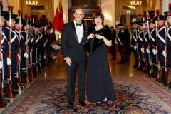 ...ebenso anwesend beim Dinner sind Bundesrat Alain Berset mit seiner Frau Muriel.... (Bild: Keystone)