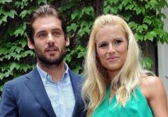 Traumpaar: Michelle Hunziker und ihr Mann Tomaso Trussardi. (Bild: Keystone)