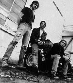 """Krist Novoselic, Dave Grohl und Kurt Cobain (v.l.) alias Nirvana wurden mit ihrem Hit """"Smells like Teen Spirit"""" über Nacht berühmt. (Bild: Keystone)"""