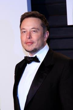 Der milliardenschwere Tesla-CEO, Elon Musk, an der anschliessenden Vanity Fair Oscar Party. (Bild: Nina Prommer/Keystone)