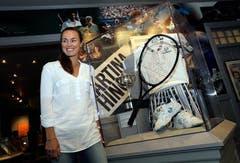 Stolz auf die Aufnahme in die Hall of Fame: Martina Hingis (Bild: Keystone)