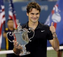 2007 US Open gegen Novak Djokovic (SRB) 7:6, 7:6, 6:4. (Bild: Justin Lane / Keystone)