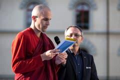 Interreligišse Feier zum eidgenšssischen Bettag, Klosterplatz, St. Gallen (Bild: Peter Käser)
