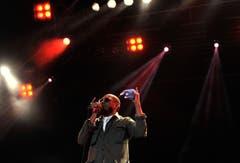 Yasiin Bey aka Mos Def voll präsent auf der Open Air-Bühne. (Bild: Reto Martin)