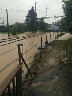Auch hier ist alles überschwemmt. (Bild: Matthias Kohn)
