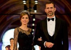 Kronprinz Felipe von Spanien mit Ehefrau Letizia. (Bild: Keystone)