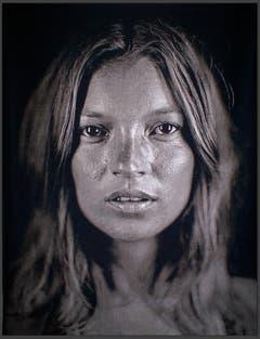 Für Künstler Chuck Close zeigte Kate Moss 2007 ihre verletzliche Seite. (Bild: Keystone)
