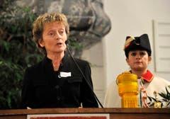 Bundesrätin Eveline Widmer-Schlumpf hält die Laudatio. (Bild: Keystone)