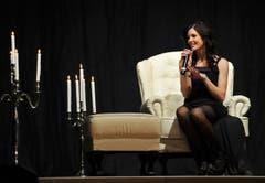 Lisa Schneider beantwortet Fragen der Jury. (Bild: Reto Martin)