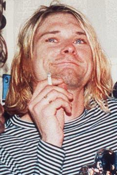 Wasserblaue Augen, strähnige Haare und Kleider aus dem 2nd-Hand-Laden: Kurt Cobain in einer Aufnahme von 1993. (Bild: Keystone)