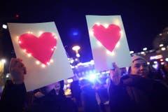 Counter-right protest in Berlin (Bild: Keystone)