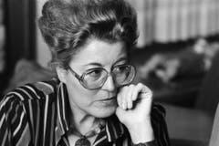 Lilian Uchtenhagen im November 1987. (Bild: Keystone)