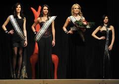Lisa Schneider, Miss Ostschweiz, Rebecca Stecher, Drittplatzierte, und Vize-Miss Kim Wirth (von links). (Bild: Reto Martin)