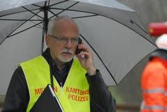 Von den Medien bestürmt: Ernst Vogelsanger, Mediensprecher der Kantonspolizei Thurgau. (Bild: Mario Testa)