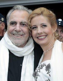 Im August 2013 heiratete Maximilian Schell die fast 50 Jahre jüngere Iva Mihanovic - sie war nun bei ihm im Spital, als er starb. (Bild: Keystone)