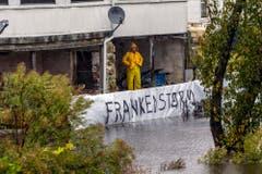 """Der Supersturm wird im Volksmund in Anlehnung an Frankenstein auch """"Frankenstorm"""" genannt. (Bild: Keystone)"""
