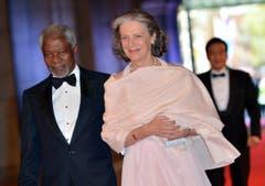 Der ehemalige Uno-Generalsekretär Kofi Annan mit seiner Ehefrau Nane Lagergren. (Bild: Keystone)