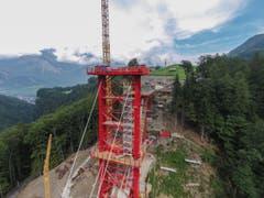 Täfers - Taminabrücke im Bau (Bild: Ralph Ribi)