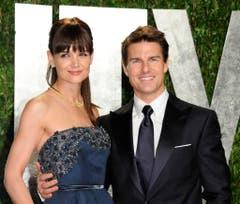 Im Februar 2012 lächelten Katie Holmes und Tom Cruise noch gemeinsam für die Fotografen. (Bild: Keystone)