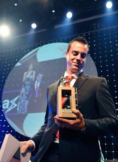 Im August 2009 wurde der Goalie an der Nacht des Schweizer Fussballs zum Spieler des Jahres gekürt. (Bild: Keystone)