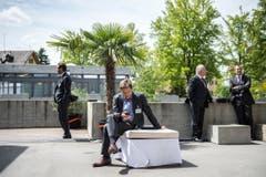 Stilleben mit Smartphone am Rande des Symposiums. (Bild: Urs Bucher)