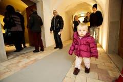 Auch kleine Gäste waren mit Interesse dabei. (Bild: Donato Caspari)