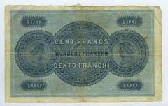 Die erste Serie kam 1907 in Umlauf. (Bild: Archiv der SNB)