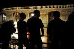 Auf dem Balkon im Rathaussaal hat man einen guten Blick auf die Frauenfelder Konstabler. (Bild: Reto Martin)