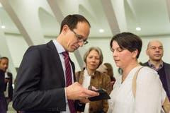 Marc Mächler mit seiner Ehefrau. (Bild: Michel Canonica)