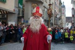 Der Samichlaus der Sankt Nikolausgesellschaft Wangen bei Olten. (Bild: Keystone)
