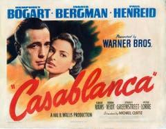 """Ebenfalls ein Film-Klassiker. """"Casablanca"""" aus dem Jahr 1942. Wohl eines der berühmtesten Zitate daraus: """"Küss' mich, küss' mich als wäre es das letzte Mal."""" (Bild: Keystone)"""