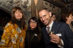 Von links nach rechts: Nina van Rooijen, Tanja Kummer, Jeroen van Rooijen. (Bild: Andrea Stalder)