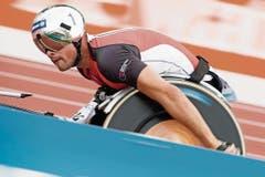 Marcel Hug, Pfyn, dreifacher WM-Goldmedaillengewinner. (Bild: VALENTIN FLAURAUD (KEYSTONE))