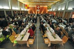 Die Bevölkerung und viel Prominenz feierten in Wängi den neuen Nationalratspräsidenten. (Bild: Reto Martin)