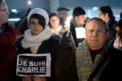 Solidaritätskundgebung für die Attentatsopfer in Genf. (Bild: Keystone)