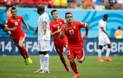 Xherdan Shaqiri traf bereits in der 6. Minute zum 1:0 für die Schweiz. (Bild: Keystone)