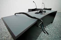 Die Räume des Bundesverwaltungsgerichts sind technisch bestens ausgerüstet. (Bild: Keystone)